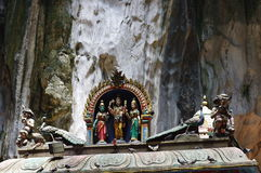 Statues at the Batu Caves temple Stock Photography