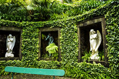 Statues in a Beautiful Garden at Monte above Funchal Madeira. This wonderful garden is at the top of the cablecar from the seafront in Funchal. It is filled with Royalty Free Stock Image