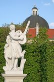 Statues in Belvedere Palace garden in Vienna, Austria Stock Images