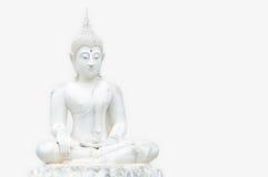 Statues blanches de Bouddha Photographie stock libre de droits