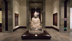 Statues bouddhistes blanches, Hong Kong, Chine Images libres de droits