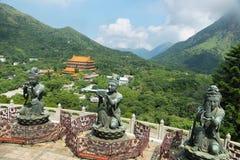 Statues bouddhistes en île de Latau, Hong Kong Photographie stock