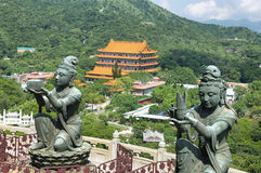 Statues bouddhistes en île de Latau, Hong Kong Images stock