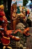 Statues bouddhistes en pierre de jardin, Thaïlande. Photographie stock