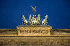 Statues of Brandenburg Gate. Berlin, Germany Stock Photos