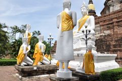 Statues of Buddha. At Ayutthaya was the old capital of Thailand Royalty Free Stock Image