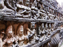 Angkor Thom statues Royalty Free Stock Images