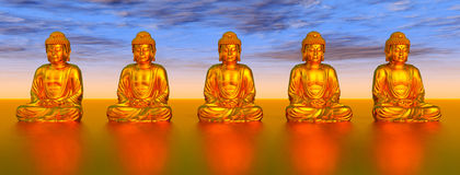 Statues of Buddha Royalty Free Stock Photos