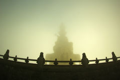 The statues of Buddha. At EMEI mountain, Sichuan Province, China Royalty Free Stock Photo