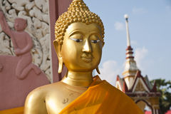 Statues of Buddha in gold. Royalty Free Stock Photography