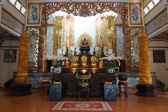 Statues of Buddha. NHA TRANG, VIETNAM - CIRCA JANUARY 2017 Statues of Buddha in the temple in  Long Son Pagoda Stock Photo