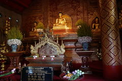 Statues of Buddha at Phra Singh temple in Chiang Mai Stock Photos