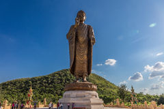 Statues of Buddha at thipsukhontharam in thailand. Stock Photography
