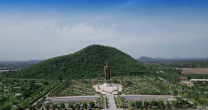 Statues of Buddha at Wat Thipsukhontharam,Kanchanaburi province,Thailand stock video