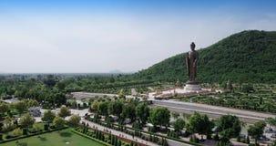 Statues of Buddha at Wat Thipsukhontharam,Kanchanaburi province,Thailand stock footage