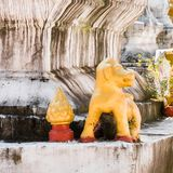 Statues of Buddhist deities, Luanghabang, Laos. Close-up. stock photography
