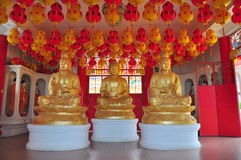 Statues of Buddhist gods Stock Images