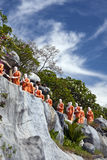 Statues of Buddhist Monks, Dambula Royalty Free Stock Photography