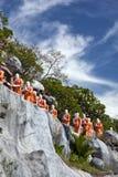 Statues of Buddhist Monks, Dambula royalty free stock photography