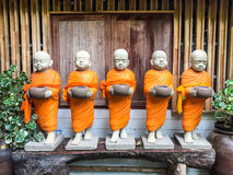 Statues of Buddhist monks Royalty Free Stock Image