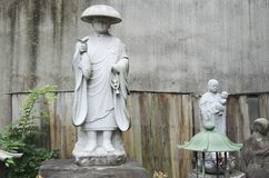 Statues of buddhist monks royalty free stock photo