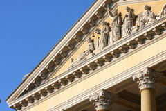 Statues on building Royalty Free Stock Photos