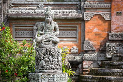 Statues and carvings depicting demons, gods Royalty Free Stock Image