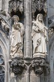 Statues, The Cathedral. Statues The Cathedral Aachen Germany Stock Images