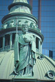 Statues on the Cathedral-Basilica of Mary, Queen of the World Royalty Free Stock Photos