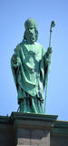 Statues on the Cathedral-Basilica of Mary, Queen of the World Stock Image