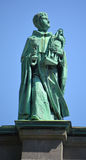 Statues on the Cathedral-Basilica of Mary, Queen of the World Stock Photos