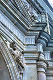 Statues on a cathedral`s walls Royalty Free Stock Photography