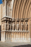 Statues of Cathedral Tarragona, Catalonia, Spain Royalty Free Stock Photos