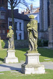 Statues in central Bruges Royalty Free Stock Images