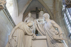 Statues in the chapel of the Castle of Vincennes Royalty Free Stock Images