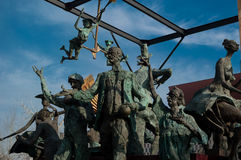 Statues of the characters and Ion Luca Caragiale. In Bucarest, Romania Royalty Free Stock Photography
