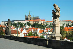 Statues on Charles bridge, Prague Stock Photography