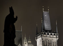 Statues on the Charles bridge, Prague Royalty Free Stock Images