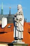 Statues on Charles Bridge, Prague Stock Image