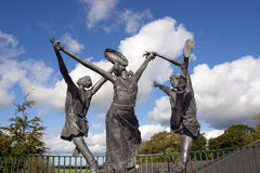 Statues of the children of lir Stock Photos