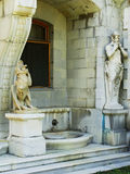 Statues of Chimera and Satyr, Masandra Palace, Crimea peninsula Royalty Free Stock Photo