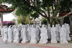 The statues of Chinese Dongmingsi. The statues of Chinese fujian zhangzhou dongmingsi temple Stock Photos