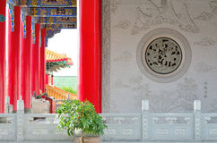 Statues in the Chinese garden. Stock Image
