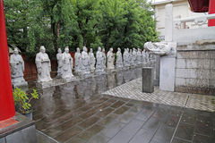 Statues of Chinese Sages Stock Photo