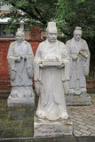 Statues of Chinese Sages Stock Photos