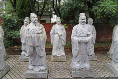 Statues of Chinese Sages Stock Images