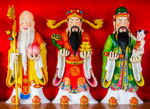 Statues of chinese traditional god Royalty Free Stock Image