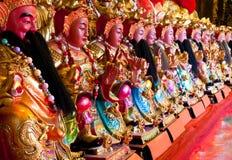 Statues chinoises d'un dieu photo stock