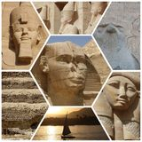 STATUES COLLAGE IN EGYPT Stock Images