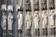 Statues on the Cologne Cathedral Dom. UNESCO Wold Heritage Site Stock Images